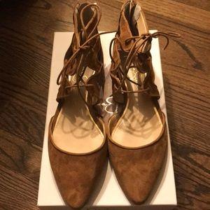 Jessica Simpson Suede Tie Around Ankle Flats